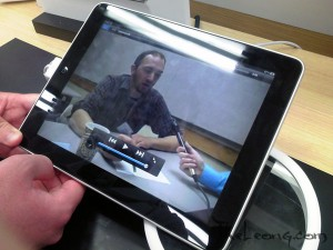 Kieran Farr interview on the iPad